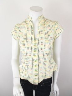 Odille Anthropologie Top Yellow