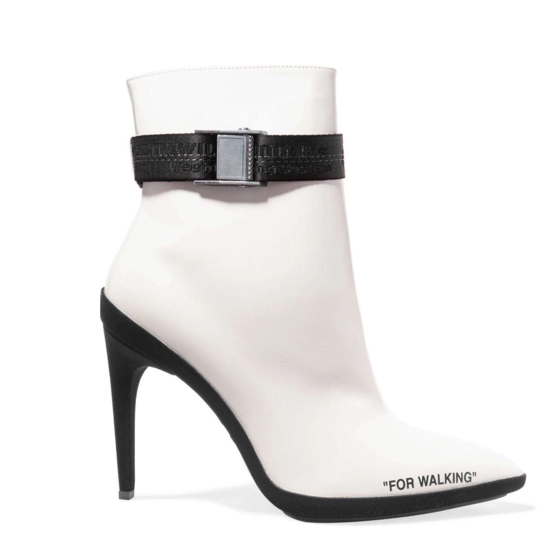 79622714c5ee9 Off-White  For Off-White  For Off-White  For Walking Leather Ankle  Boots Booties Size US 9 Regular (M