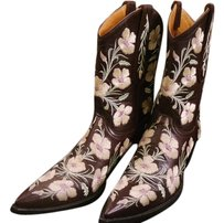 Old Gringo Cowboy Boot Embroidered Chocolate Brown Boots