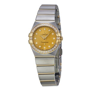 Omega Constellation Diamond Champagne Dial Steel Ladies Watch