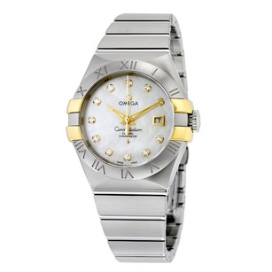 Omega Constellation White Mother of Pearl 18K Yellow Gold Ladies Watch