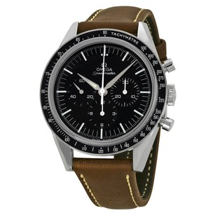 Omega LIMITED 50TH ANNIVERSARY EDITION Black Dial Brown Leather Men's Watch