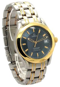 Omega Omega 18K/SS Semaster 35mm Blue wave dial Unisex watch