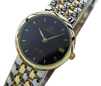 Omega Omega Deville 18k Gold And Ss Quartz Round Swiss Made Ladies Dress Watch Pb31