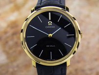 Omega Omega Deville Mens Manual Gold Plated Swiss Made C 1990 Dress Watch Nr7