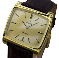 Omega Omega Geneve Swiss Made Manual Cal 620 Gold Plated Mens 1960s Watch Mx37