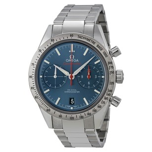 Omega Speedmaster Chronograph Blue Dial Stainless Steel Men's Watch