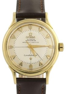 Omega Vintage Omega Constellation Watch Pie Pan 18k Gold Automatic 354 Bumper Serviced