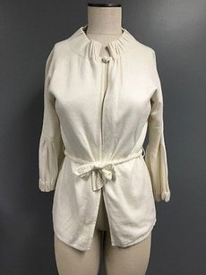 One Girl Who Cotton Stretch Tie Button 34 Sleeve Sma7588 Sweater