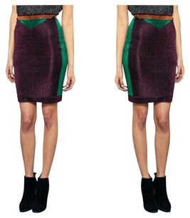 Opening Ceremony Pencil Skirt Purple Green Gold