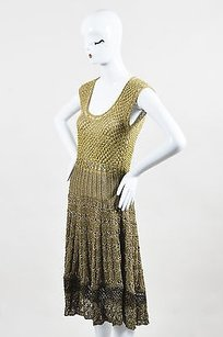 Oscar de la Renta short dress Green Olive on Tradesy