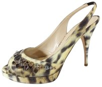 Oscar de la Renta Slingbacks Multi-Color Pumps