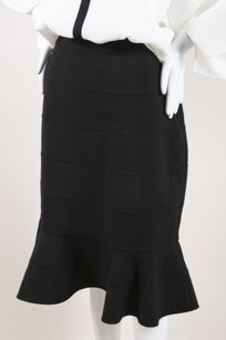 Oscar de la Renta Wool Skirt Black