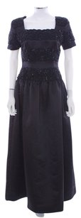 Oscar de la Renta Vintage Beaded Evening Satin Lace Dress