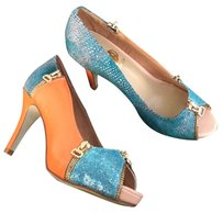 Osionce Orange, silver, blue Pumps