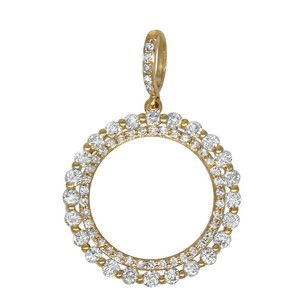 Other 0.71ct Diamond 14k Rose Gold Circle Pendant