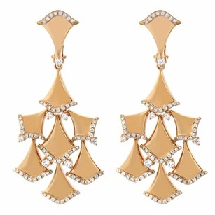 1.08ct Diamond 14k Rose Gold Chandelier Earrings