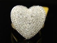 10k Ladies Womens Mm Diamond Engagement Heart Ring