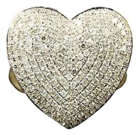 Other 10k Ladies Womens Mm Diamond Engagement Heart Ring