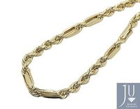 Other 10k Yellow Gold 6mm Wide Milano Rope Link Combo Chain Necklace 18-28 Inches