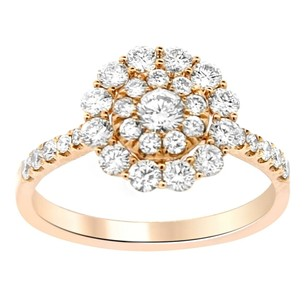 1.11ct Diamond 14k Rose Gold Circle Ring 5-8