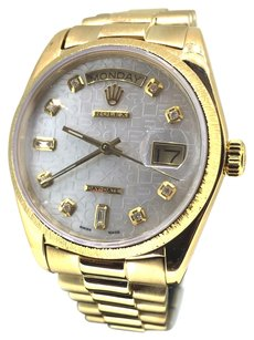 Rolex Rolex 18k Gold Day-Date Jubilee White Mother of Pearl Dial Presidential Watch