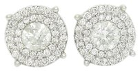 Other 14k Gold Approx. 1.20 Carats Tcw Haloed Diamond Unisex Stud Earrings E204