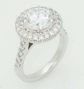 14k White Gold 0.50 Ct Tcw Diamonds Engagement Ring Setting R337