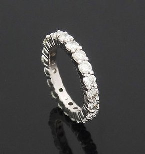 14k White Gold 2.20 Carats Tcw Vs Si I-j Round Diamond Eternity Band Ring R403