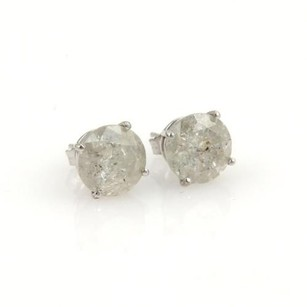 Other 14k White Gold 5.32ct Round Cut Diamond Stud Earrings
