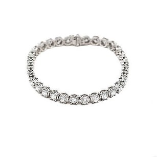 14k White Gold 8.89ct Round I Color Si2 Tennis Bracelet 15 Grams 7