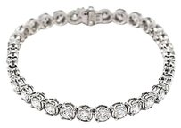 Other 14k White Gold 8.89ct Round I Color Si2 Tennis Bracelet 15 Grams 7