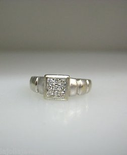 Other 14k White Gold Diamonds Ladies Ring 4.25