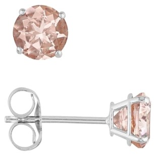 Other 14k White Gold Morganite Stud Earrings 0.96 Ct Cttw