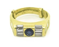 Other 14k Yellow Gold 1.00ct Diamond and Natural Sapphire Ring