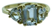 14k Yellow Gold Clear Stone Ladies Ring