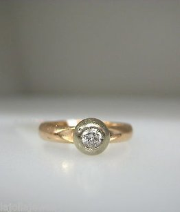 14k Yellow Gold Ladies Diamond Band Ring