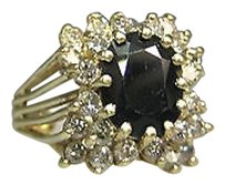 Other 14k Yellow Gold Sapphire Diamonds Ladies Ring