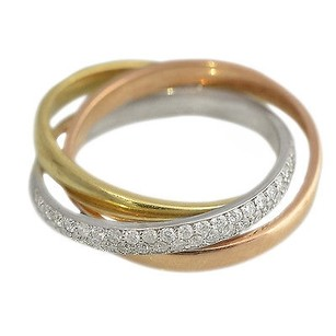 Other 14kt Tricolor Gold 1.35ct Diamond Ring 7.2 Grams