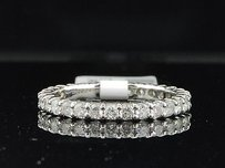 14k White Gold Round Cut Diamond Wedding Ring Eternity Band 1 Ct.