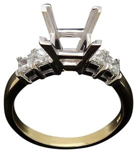 18k Tone Gold 0.80 Ct Tcw Vs H Princess Diamond Engagement Ring Mounting R366