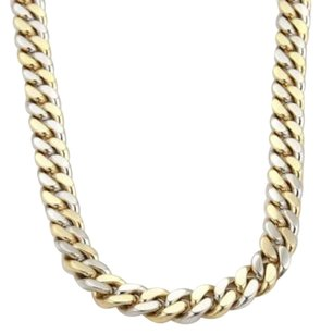 Other 18k Yellow White Gold Heavy Curb Link Chain Necklace 20.5long 132 Grams