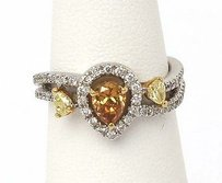 Other 18kt Two Tone Gold 1.18cts Fancy Color White Diamond Ladies Cocktail Ring