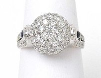Other 18kt White Gold 2.10ctw Diamond Sapphire Ball Top Ladies Ring