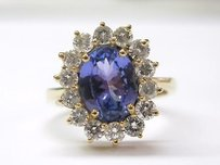 Other 18kt Gem Tanzanite Diamond Anniversary Ring 3.54ct