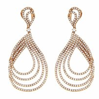 1.93ct Diamond 14k Rose Gold Dangle Earrings