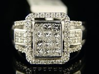 14k Bridal Engagement Princess Cut Diamond Ring 1.0 Ct