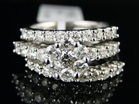 14k Ladies Bridal Engagement Diamond 3 Ring Set 2.0 Ct