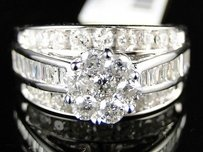 1.63 Ct White Gold Ladies Round Cut Diamond Wedding Engagement Bridal Ring
