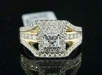 14k Ladies Xl Princess Fashion Engagement Diamond Ring